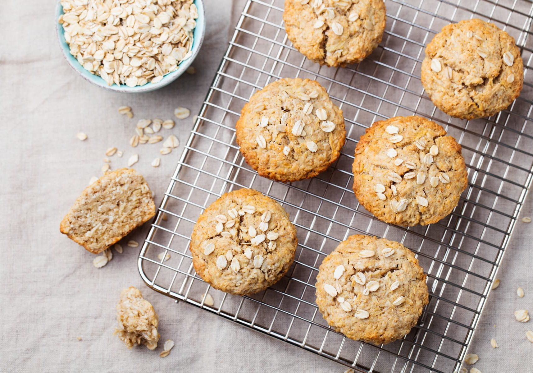 Banana Apple & Date Wholewheat Muffins