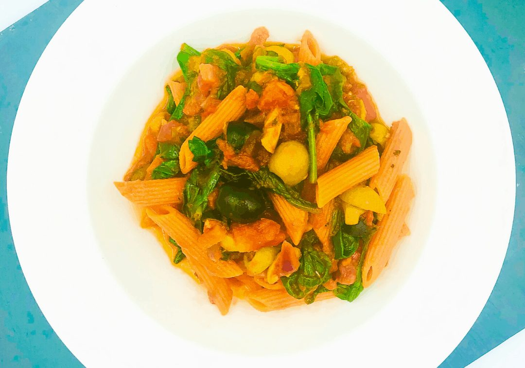 Anchovy and Spinach Pasta