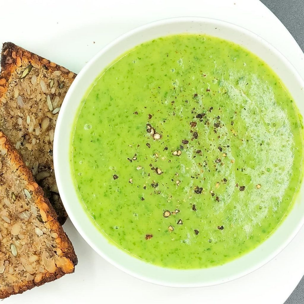 Watercress Soup with Nutty Seed Bread