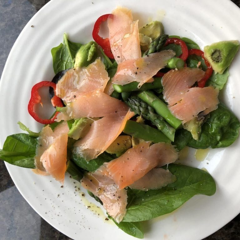 Simple Smoked Salmon Salad