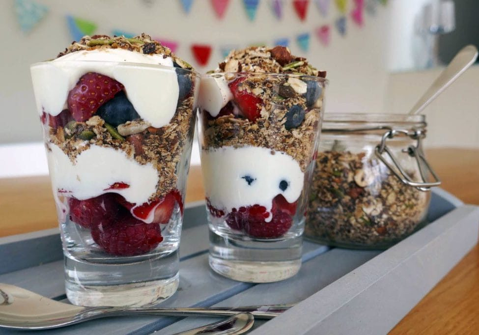 Chocolate Granola Pots